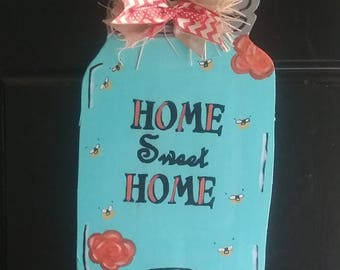 Mason Jar Door Sign