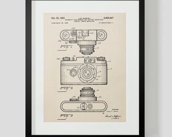 Harvey Vintage Camera Patent Print