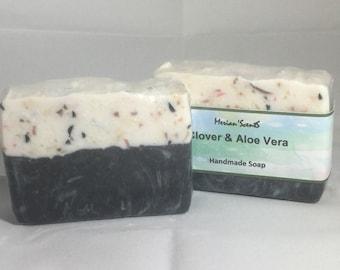 Handmade Soap -- Clover & Aloe Vera Soap