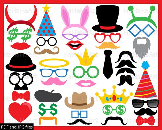 glasses and mustaches v1 clipart pdf jpg digital graphic design rh etsystudio com commercial clip art downloads free commercial clip art for sale