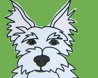 Alert- a Westie in the Dog Series Art Print