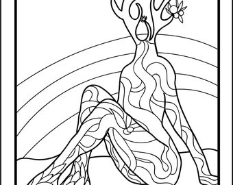 Tarot Coloring Page - The Empress