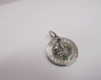 925 Sterling Silver Seasons Greets Charm W #878