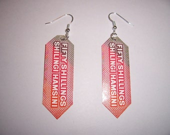 MONEY FOR YOUR EARS - CURRENCY EARRINGS