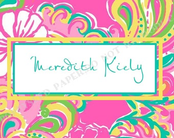 Lilly Pulitzer Luggage Tag or Bag Tag- Backpack Tag- Custom, Personalized Luggage Tag