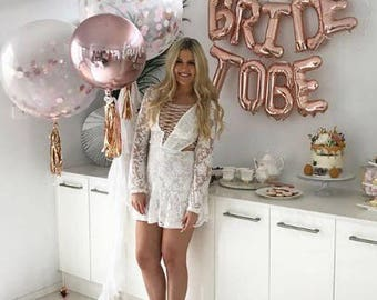 Bride to Be Balloons, Bride to Be, Bridal Shower, Bachelorette Party, Bridal Shower Decor, Bride Tribe, Engagement, Bridal Shower Banner