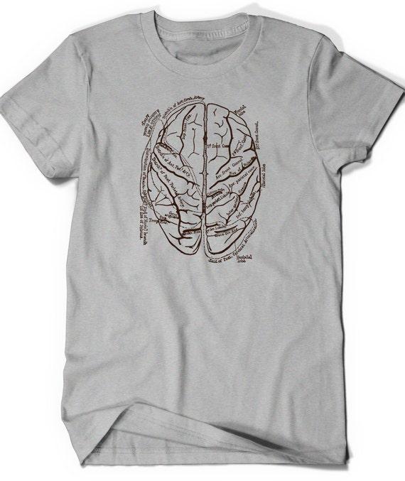 Anatomical Brain Shirt T Shirt T Shirt Tee Men Women Ladies