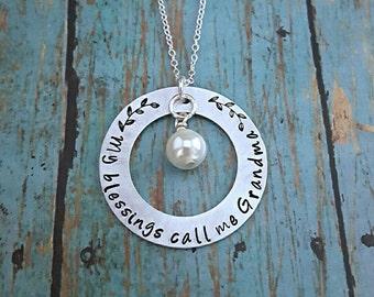 Grandmother's Necklace - Grandma Necklace - Necklace for Grandma - Gift for Grandma - Mother's Day - My Greatest Blessings Call Me Grandma