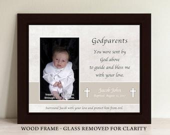 Godparent Gift, Baptism Gift for Godparents, Baptism Gift, Godmother Gift, Godfather Gift, Christening Gift, Godparent Frame (GP2)