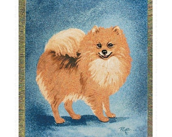 Personalized Pomeranian Dog Throw Blanket