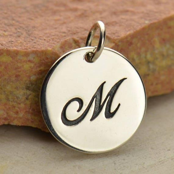 Kursiven Buchstaben Charme Monogramm Halskette Alphabet erste
