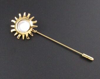 Smithsonian Stickpin, Sun Stickpin, Avon Stickpin, Museum Stickpin, Avon Smithsonian Pin, Smithsonian Institute, Museum Jewelry