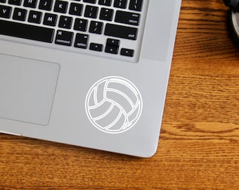 Volleyball Decal, Vinyl Decal, Laptop Decal, Gift for Her, FLAT RATE SHIPPING