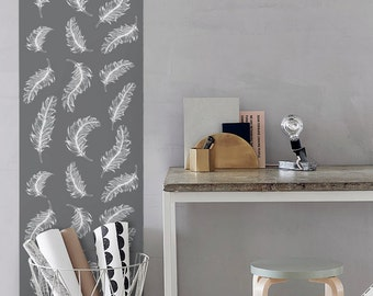 Feather Removable Wallpaper / Nursery Self Adhesive Wallpaper / nursery Wall Mural / boho Wall sticker - CM004