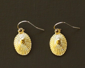 Gold Opihi Shell Earrings - 14K Gold filled Earwires