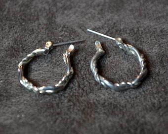 Vintage Hoop woven Earrings