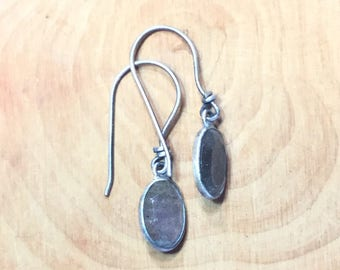 Sterling silver labradorite dangle earring wire wrapped 925 silver drop earrings boho gift for her Mother's Day gift bridemaids gift