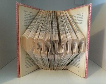 Folded Book Art - Love Mum - Hardcover book