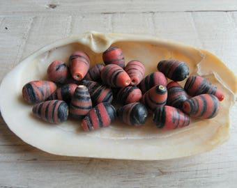 7 beads ceramic drop: 15 x 10 mm