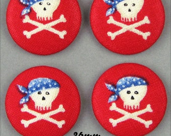 -Pirate - 26mm - (26-32) fabric covered buttons