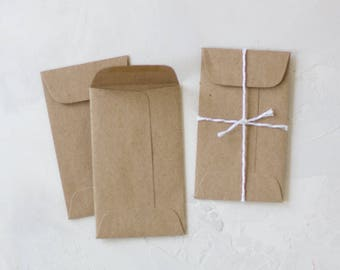 Brown Kraft Mini Open-End Envelopes - 25 pc