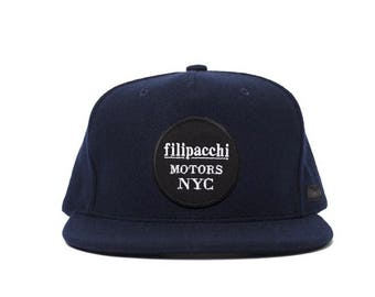 Filipacchi Motor Wool Trucker Hat - Blue