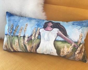 Fine Art Pillow: Lisa