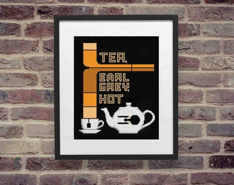 "Star Trek :The Next Generation - Inspired 8x10 Print- ""Tea, Earl Grey, Hot"""