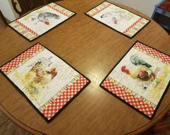 Chicken Placemats 11 1/2 x 17 1/2