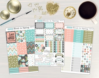 Fresh in Spring Planner Kit - Weekly Planner Stickers, Planner Sticker Kit, for use with ERIN CONDREN LifePlanners