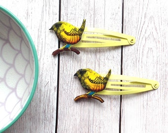 Bird Hair Slides, Bird Hair Clips, Cute Animal Bobby Pins, Rustic Wedding Hair Accessories, Spring Birthday, Girls Gift, Boho Best Friend.