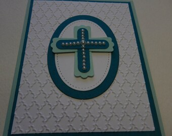 Pearl Cross First Communion Card