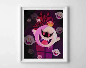 "Super Mario King Boo and Boo 8x10"" Poster"