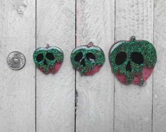 Poison Apple Resin Cabochon - 3pc. set