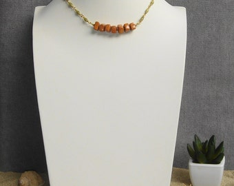 Necklace silver beads