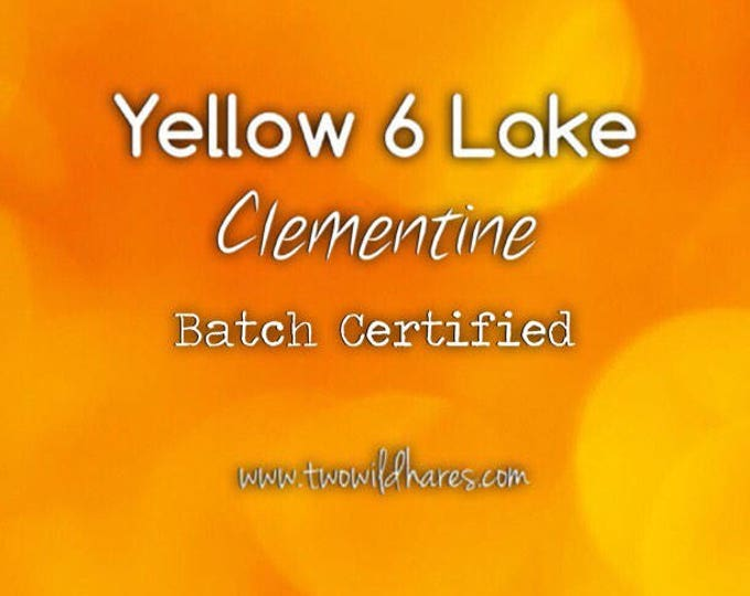 CLEMENTINE LAKE Fd&c Yellow 6 Al. Lake, 41% High Dye Load, Batch Certified, Powdered Cosmetic Colorant, 4oz