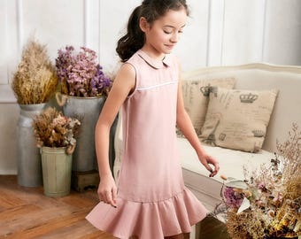 Girl Dress- Pink Ruffle Drop Waist Dress (toddler/girl)