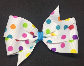 "5.5"" Multi-colored Polka Dots"