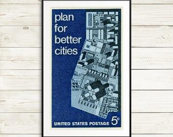 city planning wall art, urban architecture design, civil engineer gifts, city planning, urban design, urban architecture, city planning
