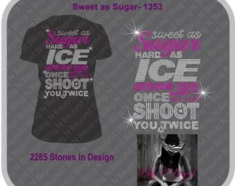 Sweet As Sugar Rhinestone Bling Shirt