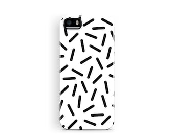 Black and White Phone Case, iPhone 5 Case, iPhone 5s Cases, Confetti iPhone 5 Case, Protective iPhone 5 Case, iPhone SE Case, iPhone Cases