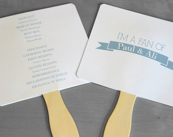 Wedding Fans/Party Fans/Ceremony Programs