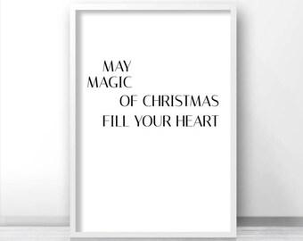 Printable Christmas Wall Art, Instant Download Christmas Print, Digital Christmas Decor, Printable Art, Holiday Print, Modern Christmas Art