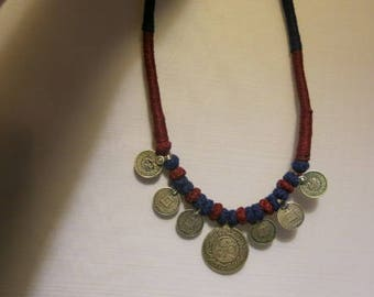 SILVER COIN NECKLACE Islamic Motifs