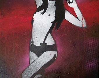 Dancing Girl | Graffiti Art on Canvas