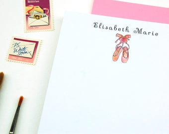 Ballet Gifts, Girls Stationery Set, Dance Teacher Gifts, Personalized Stationery Set