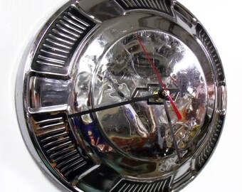 1968 - 1972 Chevy Chevelle, Impala, Bel Air, Biscayne Hubcap Clock - Chevrolet Classic Car Hub Cap - Man Cave Wall Decor - 1969 1970 1971