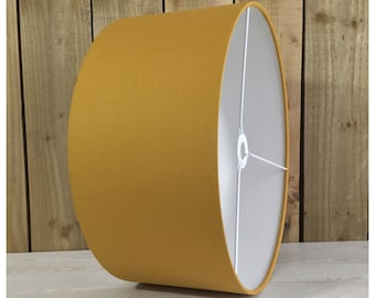 Lamp shades etsy uk mustard yellow drum lamp shade lightshade ceiling pendant 25cm 30cm 35cm 40cm 45cm 50cm 55cm 60cm aloadofball Images