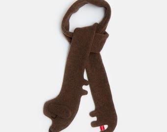 Dackel Lammwolle Schal - auf Bestellung