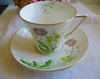 Vintage Teacup Set England Colorful Floral Fine Bone China England Tea Cup & Saucer Floral, Tea Party,  Antique Bone China Tea Cup
